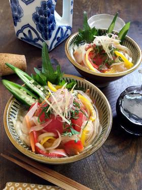 初夏・冷【浸しトマトの和サラダ】