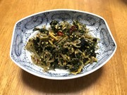 青ジソ佃煮(高知県南国市の郷土食)の写真