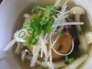 お芋饅頭の松茸風味きのこあんかけの写真