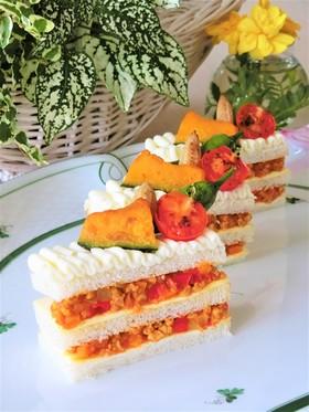 父の日*野菜カレーのサンドイッチケーキ