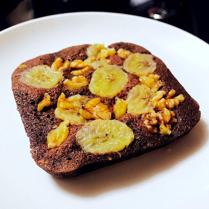 バナナココアケーキ 粉なし油なし砂糖なし