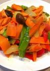 鮭と野菜のしょっつる炒め