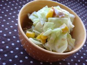 キャベツと梅かつおのマヨポン合えサラダ*