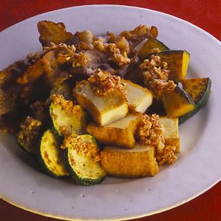 豚バラと夏野菜の焼きサラダ