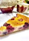 ミックスベリーの簡単ベイクドチーズケーキ