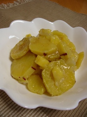 簡単おやつ♪サツマイモと林檎煮