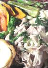 豚冷しゃぶサラダと焼き野菜のプレート