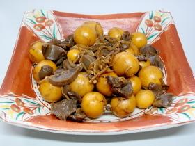 鶏きんかんと砂肝のしょうが煮@大葉にんにく醤油
