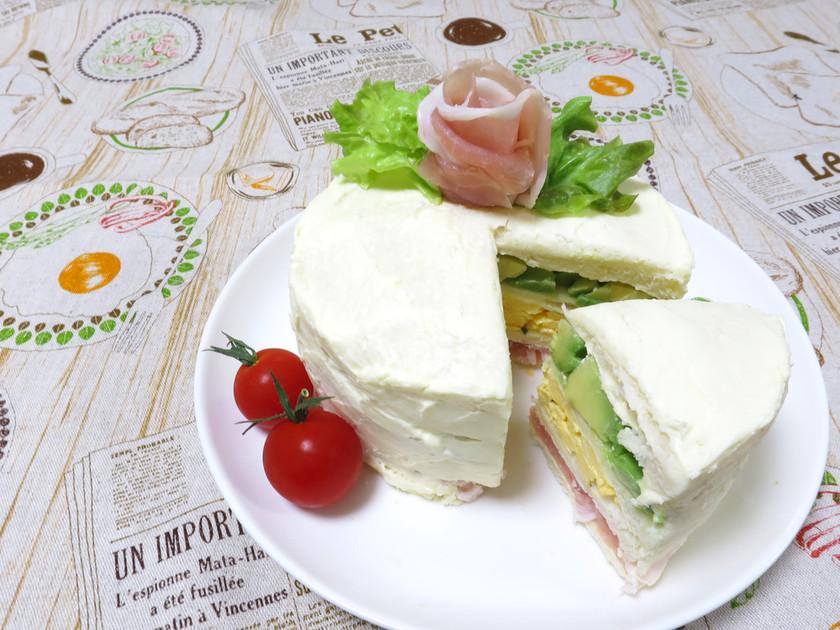 【母の日に】簡単!サンドイッチケーキ♪