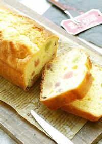 HMで作る♡カラフル甘納豆パウンドケーキ