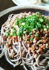 我が家の夏のお昼の定番☀納豆ひき肉そば