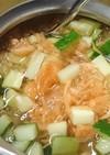 スープジャーde冷やしなめ茸おろし茶漬け
