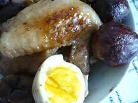 手羽先と栗の 黒酢×はちみつさっぱり煮