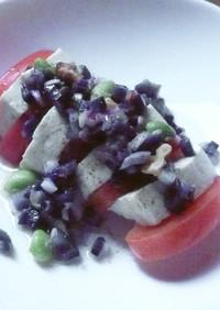 豆腐とトマトのヘルシーサラダ