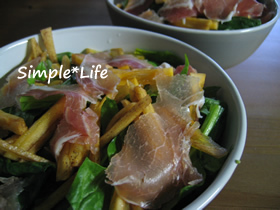 秋味☆柿のポパイサラダ