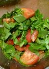 ルッコラとトマト お醤油のナムルサラダ
