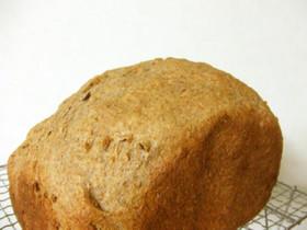 フライドオニオン入り全粒強力粉で食パン!