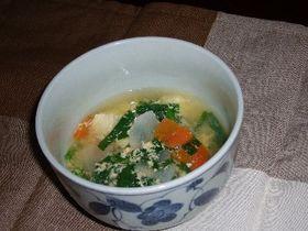 豆腐のピリ辛スープ