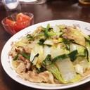 フライパンで♪白菜とニラの豚バラ春雨