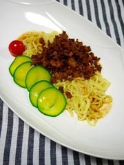 簡単!マルちゃん正麺☆汁なし坦々麺の写真
