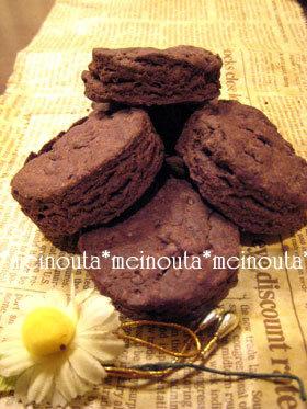 ココア de ざっくりクッキー