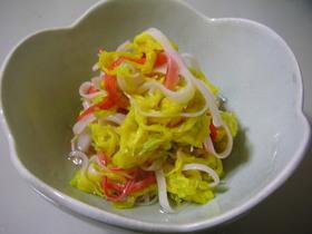 菊とカニカマの酢の物