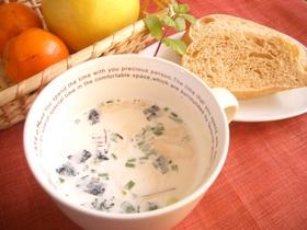 簡単!レンジで松茸風味のミルクスープ!