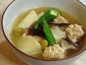 鶏と豆腐の団子とかぶの煮物