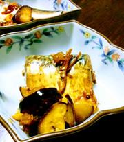 鯖と茄子の梅酢醬油煮♪糖質オフおつまみにの写真