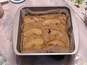 バナナと林檎のノンオイルおからケーキ