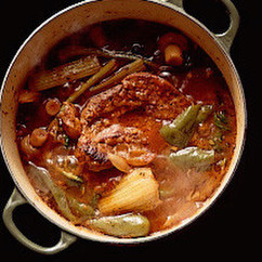 野菜たっぷり豚肉のトマト煮