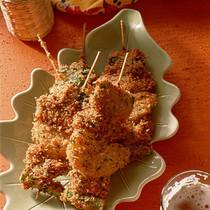 豚レバーと野菜の串カツ