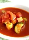 具沢山な食べるトマトスープ