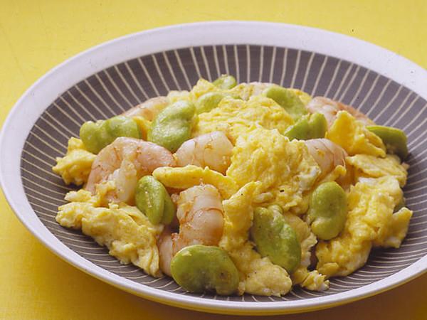 卵とえびの塩炒め
