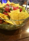 サルサソースでタコサラダ