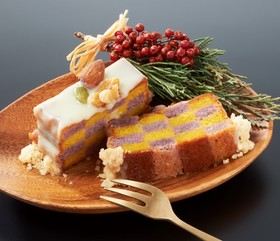 【米粉】秋野菜の米粉チェックケーキ