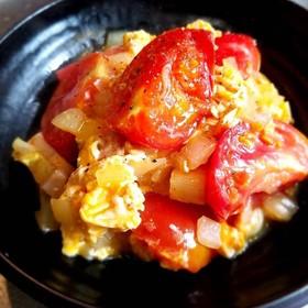 ふわとろ卵とトマトの炒め物ニンニク風味