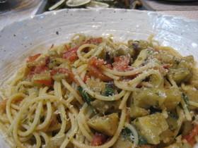 夏の名残のスパゲッティ
