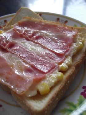 フライパンで☆チーズ・ベーコーントースト