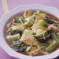 青梗菜と豆腐のオイスターソース煮