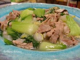 簡単!豚肉と青梗菜のあんかけ炒め♪