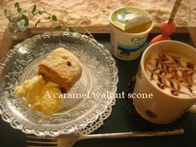 サクッホロッ食感の塩キャラメルスコーン