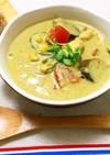 豆乳クリーミー夏野菜カレースープ肉団子入