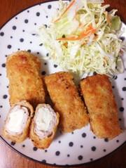 塩麹豆腐で濃厚肉巻きトンカツ♪の写真