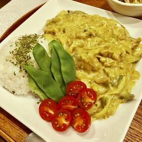 煮込5分۬★簡単ビーガングリーンカレー