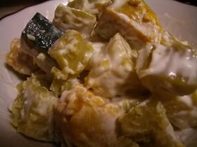 かぼちゃとお芋のクリーミーサラダ