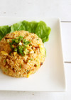 炊飯器で簡単炊き込みキムチ炒飯