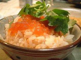 鮭とイクラの炊き込みご飯