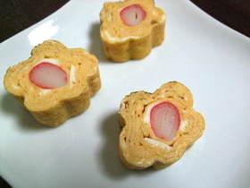 お花の出汁巻き卵(キャラ弁)