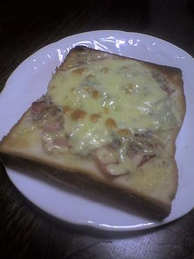 肉☆魚ピザトースト